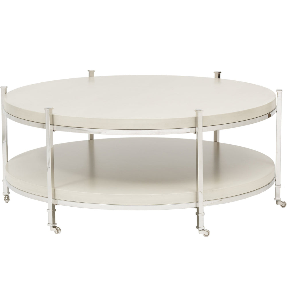 Gibson Round Cocktail Table - Modern Furniture - Coffee Tables - High Fashion Home