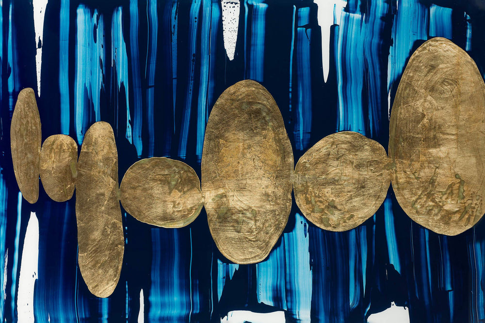 Gilded Pebbles - Accessories - Canvas Art - Abstract