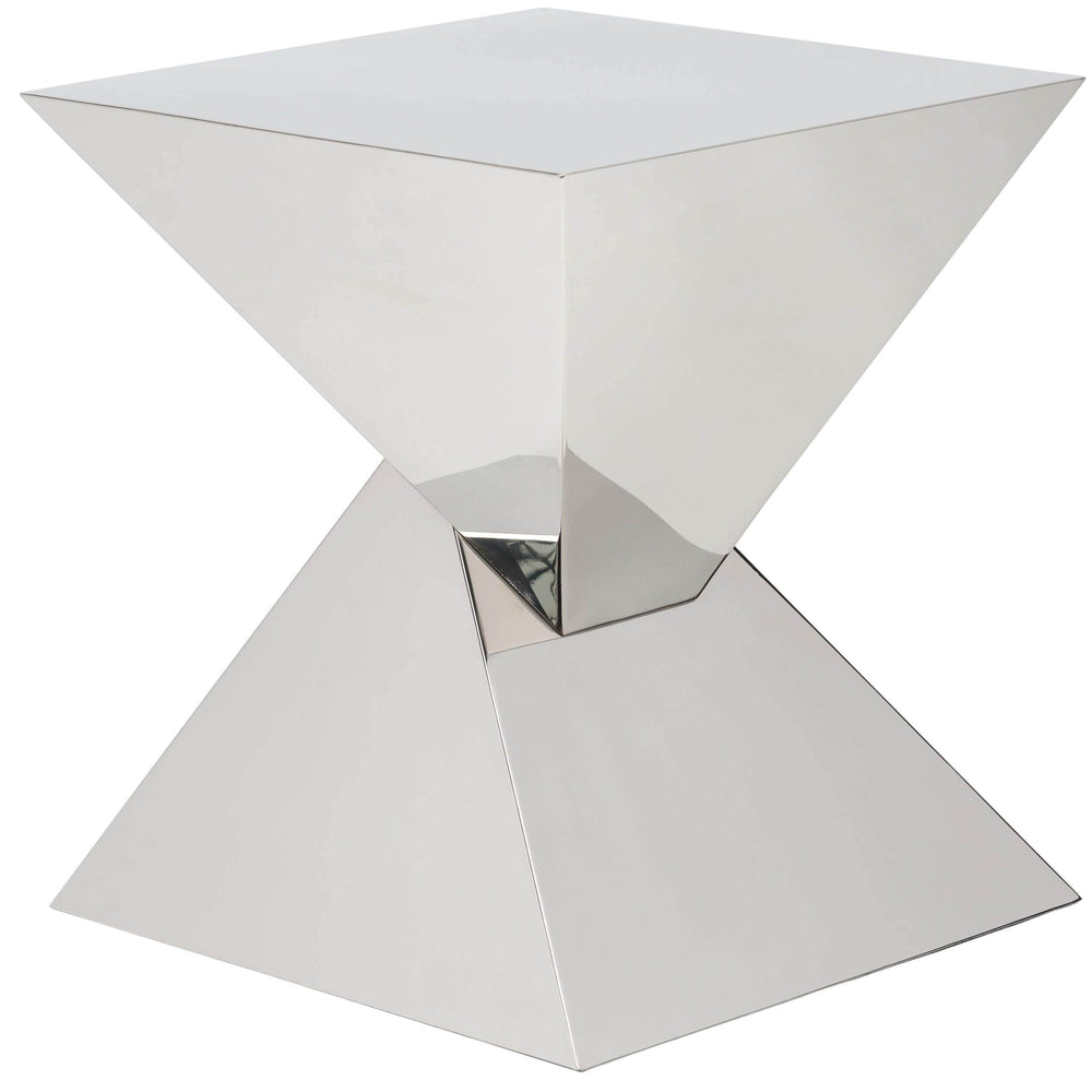 Giza Side Table, Silver - Furniture - Accent Tables - High Fashion Home
