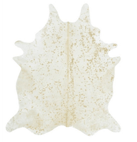 Devore Metallic Cowhide (Ivory & Matte Gold) - Accessories - Rugs - Cowhide Rugs