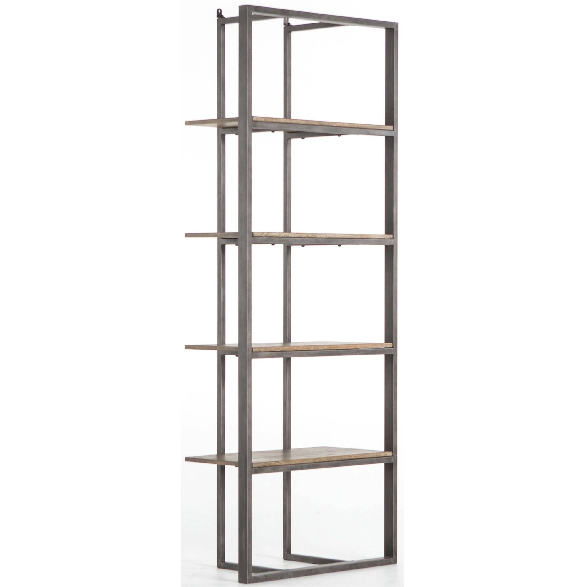 Grainger Bookshelf Light Rustic Black High Fashion Home