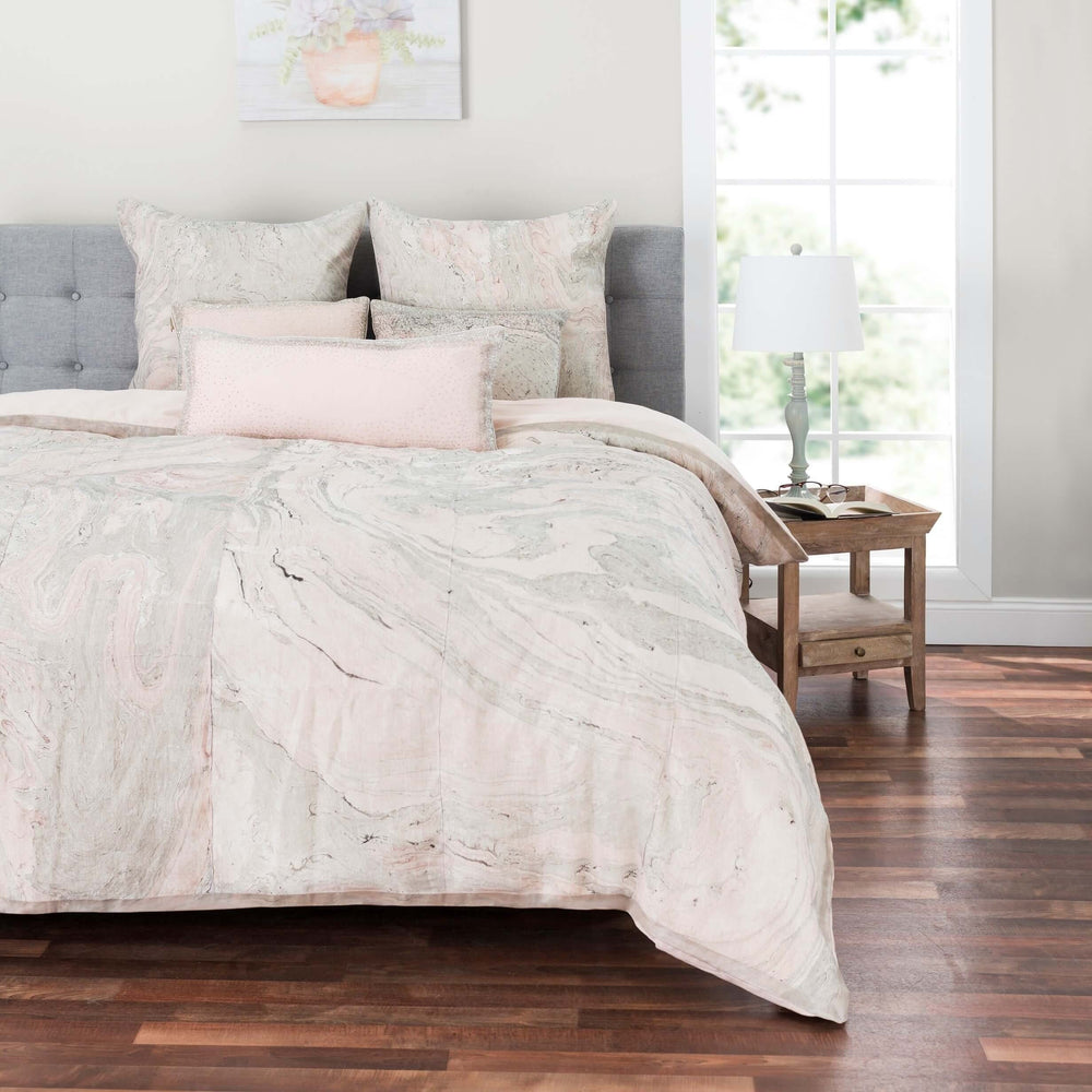 Granite Marble Duvet Cover, Pink - Accessories - What's New