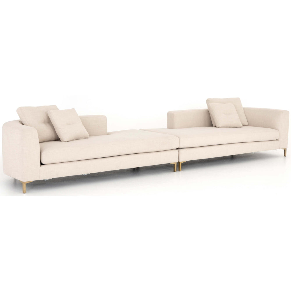 Greer Chaise Sectional - Modern Furniture - Sectionals - High Fashion Home