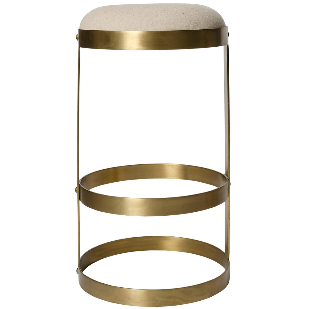Dior Bar Stool, Antique Brass - Furniture - Dining - High Fashion Home