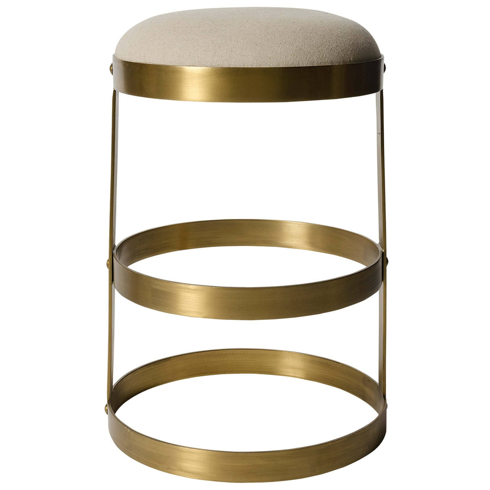 Dior Counter Stool, Antique Brass - Furniture - Dining - High Fashion Home