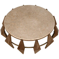 Kraken Coffee Table with Stone Top - Modern Furniture - Coffee Tables - High Fashion Home