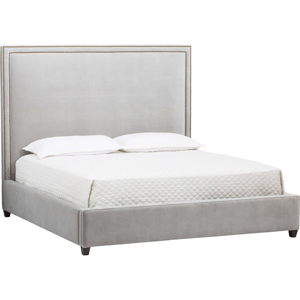 Hamilton Tall Bed, Vance Mist - Modern Furniture - Beds - High Fashion Home
