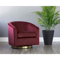Hazel Chair, Burgundy - Modern Furniture - Accent Chairs - High Fashion Home