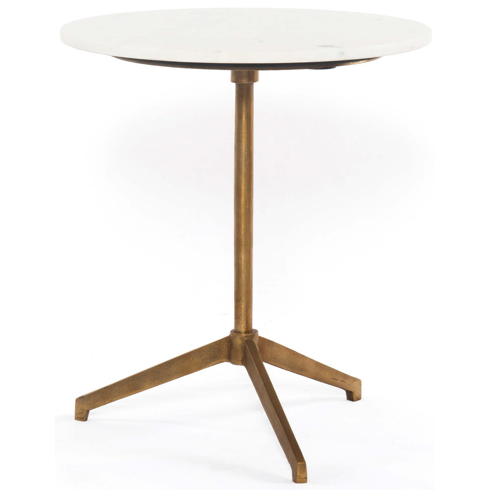 Helen End Table, Raw Brass