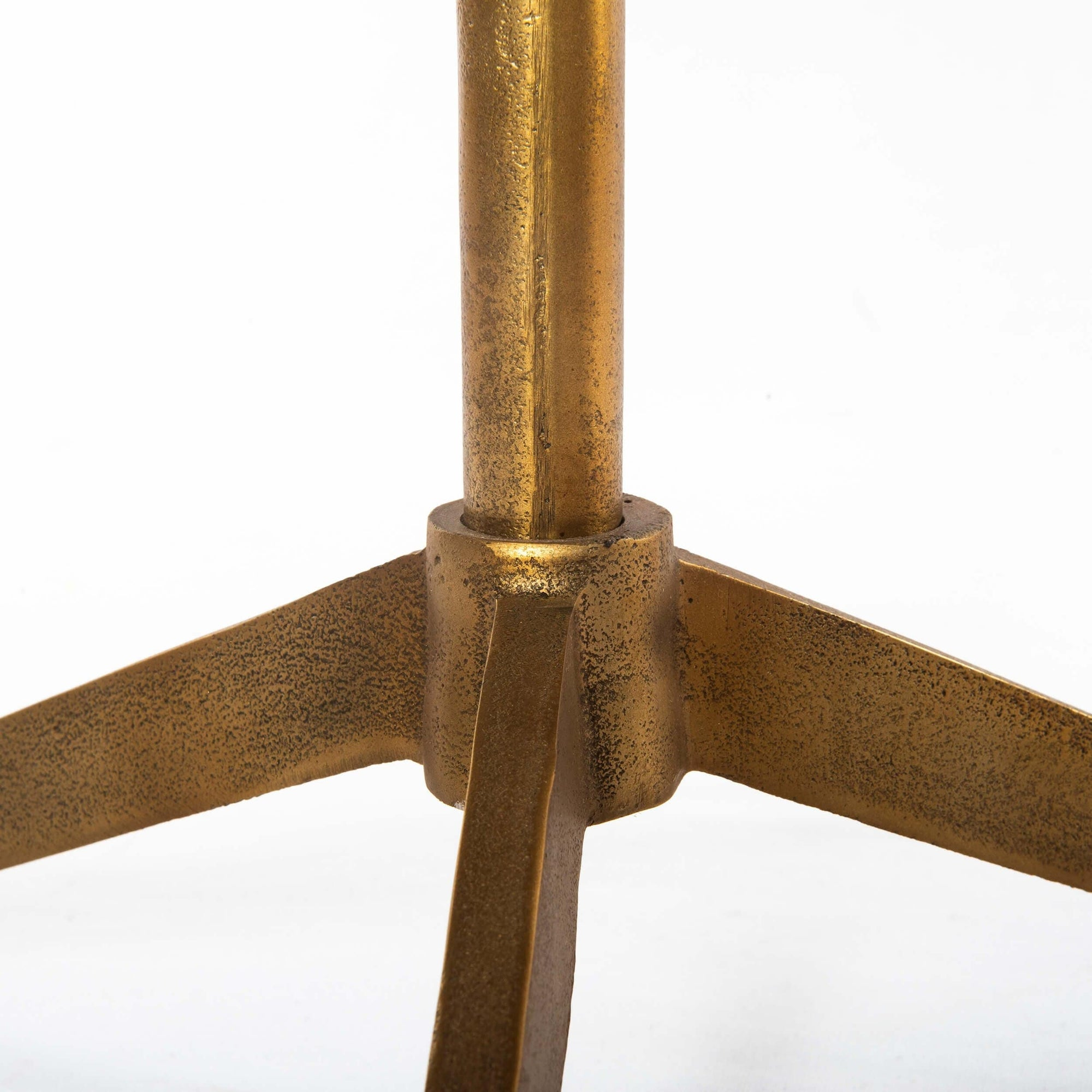 Helen End Table Raw Brass High Fashion Home