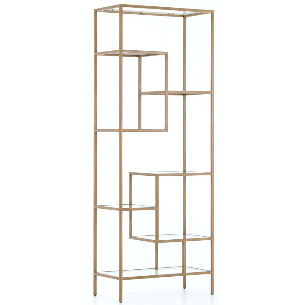 Helena Bookshelf, Antique Brass - Furniture - Bedroom - High Fashion Home