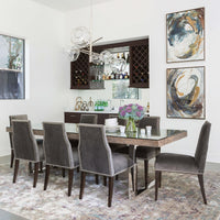 Oliver Side Chair, Valhalla Pewter, Pewter Nailheads - Furniture - Dining - High Fashion Home
