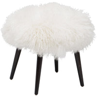 Wellington Mongolian Lamb Ottoman - Furniture - Chairs - Ottomans