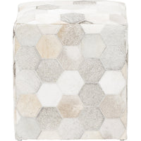 Surya Trail Cowhide Ottoman  - Furniture - Chairs - Ottomans