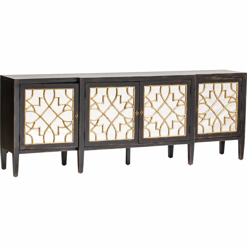 Sanctuary Mirrored Console, Ebony - Furniture - Storage - Dining