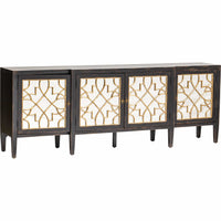Sanctuary Mirrored Console, Ebony - Furniture - Dining - High Fashion Home