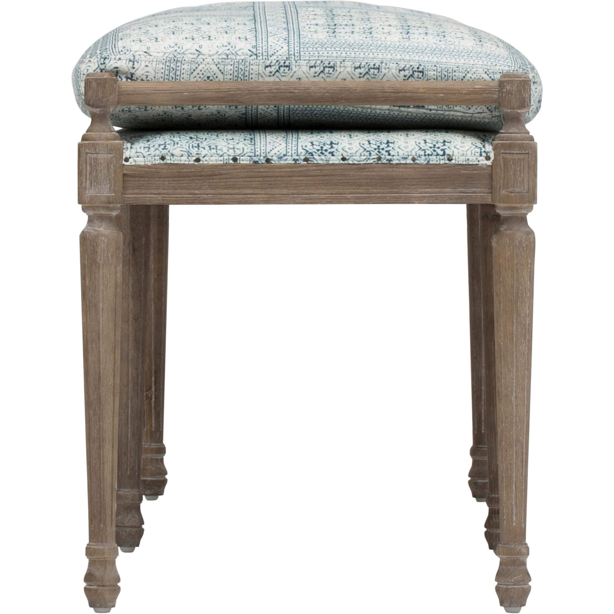Amazing Lucille 80 Dining Bench Batik Indigo High Fashion Home Pabps2019 Chair Design Images Pabps2019Com