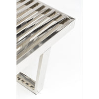 Zoey Bench, Silver  - Furniture - Chaises & Benches