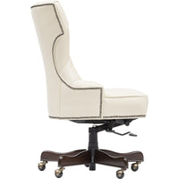 Executive Tufted Leather Chair - Furniture - Office - High Fashion Home