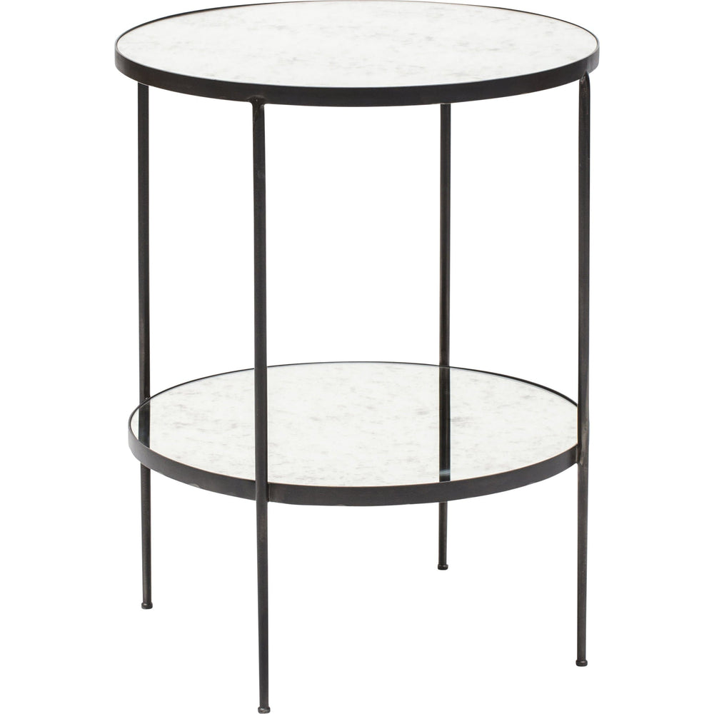 Anna Side Table, Antique Glass - Furniture - Accent Tables - High Fashion Home