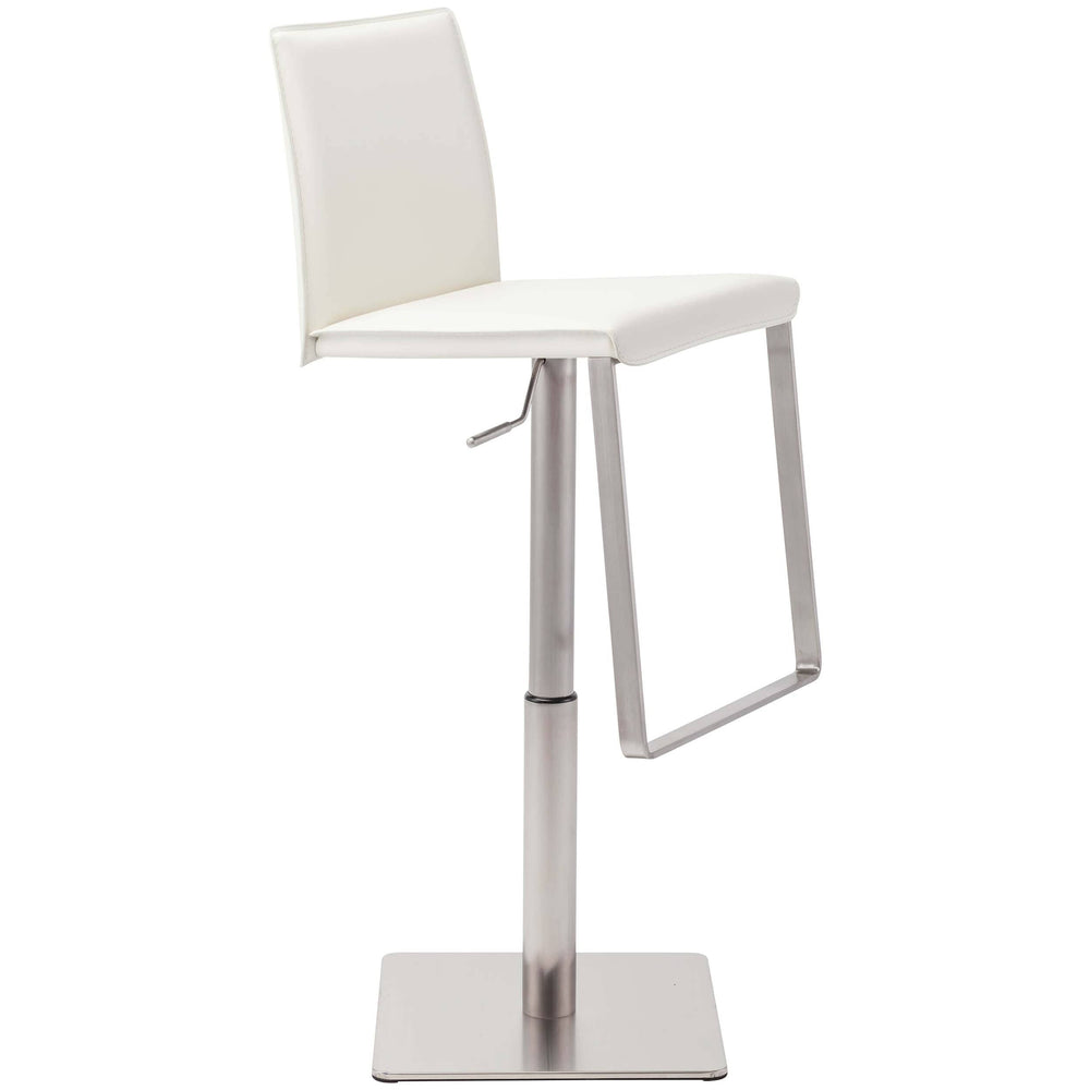 Kailee Adjustable Stool, White - Furniture - Dining - High Fashion Home