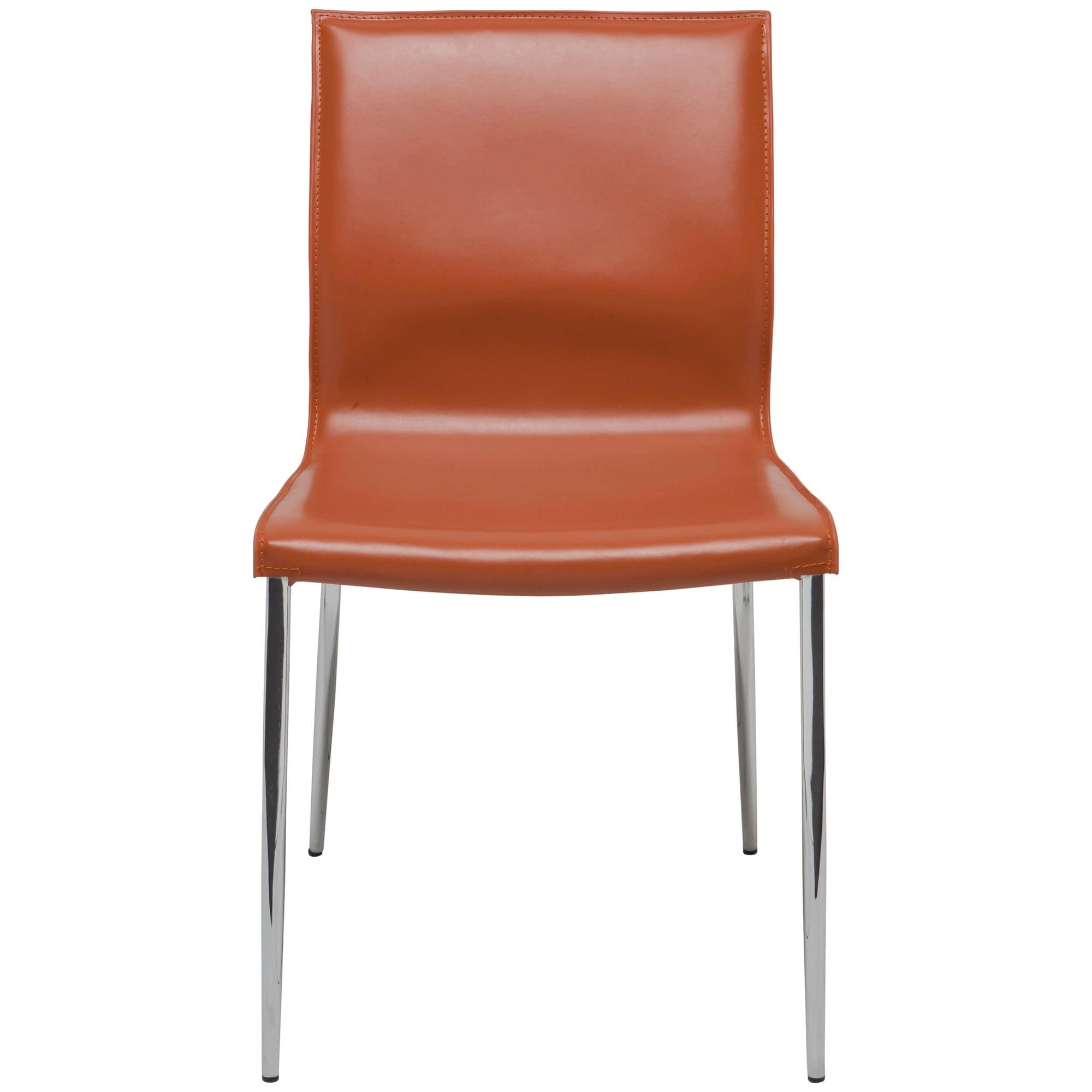 Marvelous Colter Leather Dining Chair Ochre Chrome Legs High Gmtry Best Dining Table And Chair Ideas Images Gmtryco