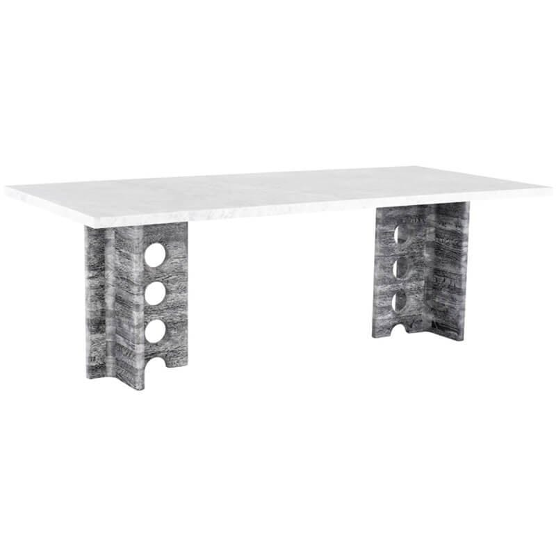 Foundary Dining Table, White