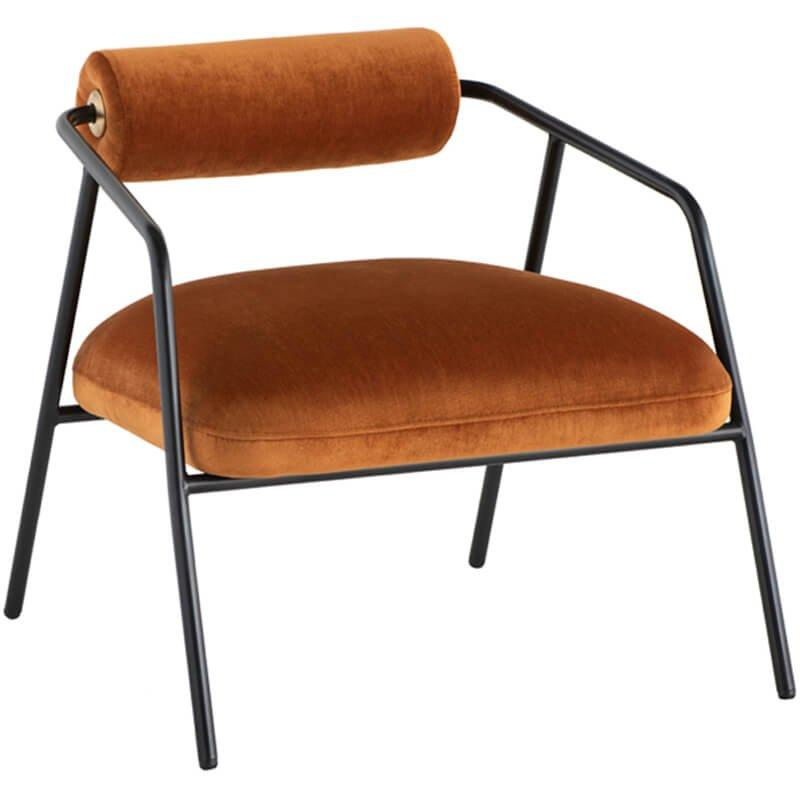 Cyrus Chair, Rust - Modern Furniture - Accent Chairs - High Fashion Home