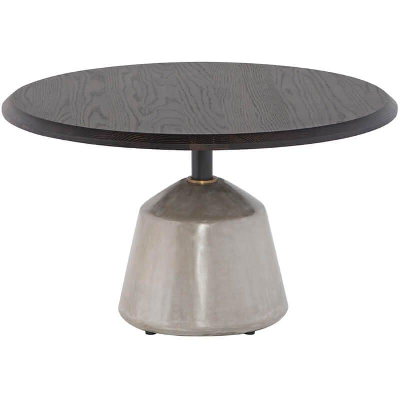 Exeter Side Table, Seared Oak/Grey Base - Modern Furniture - Coffee Tables - High Fashion Home