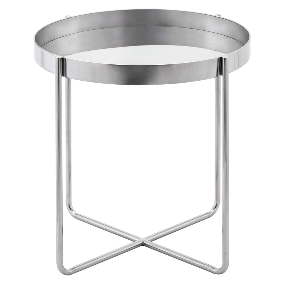 Gaultier Side Table, Silver - Furniture - Accent Tables - High Fashion Home