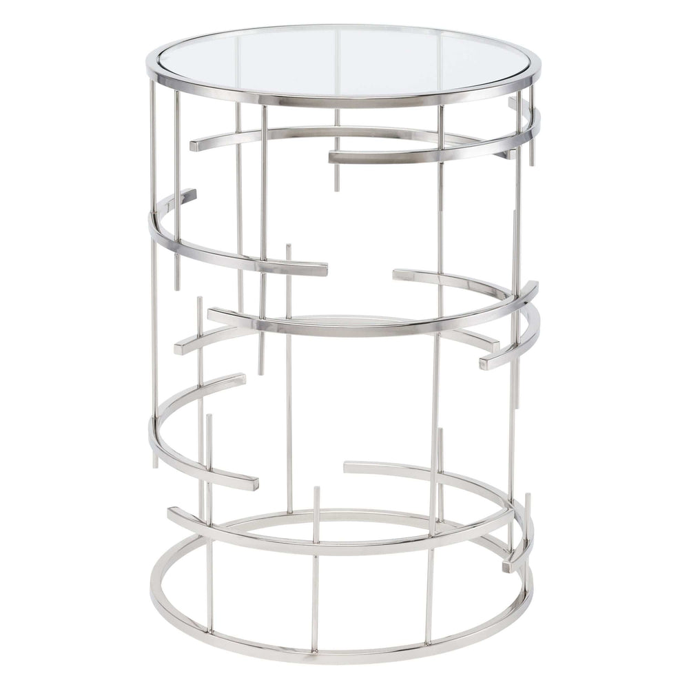 Tiffany Side Table, Silver - Furniture - Nuevo Living