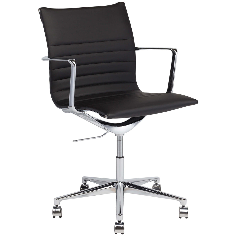 Antonio Office Chair, Black - Furniture - Office - High Fashion Home
