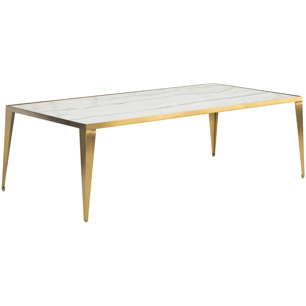 Mink Coffee Table, White/Gold Base - Furniture - Accent Tables - High Fashion Home