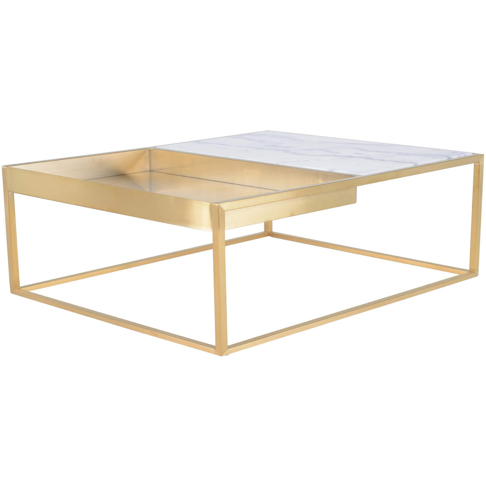 Corbett Square Coffee Table, White - Furniture - Accent Tables - Coffee Tables
