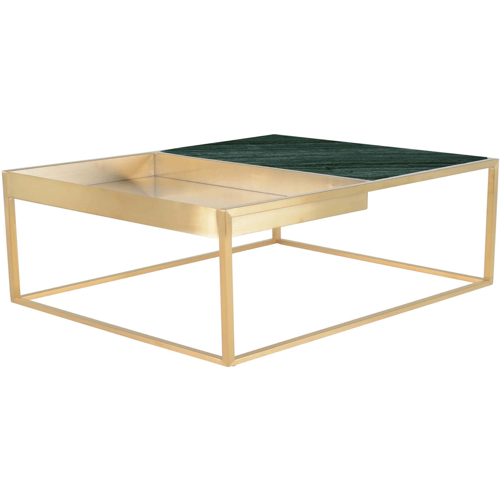 Corbett Square Coffee Table, Green - Furniture - Accent Tables - Coffee Tables