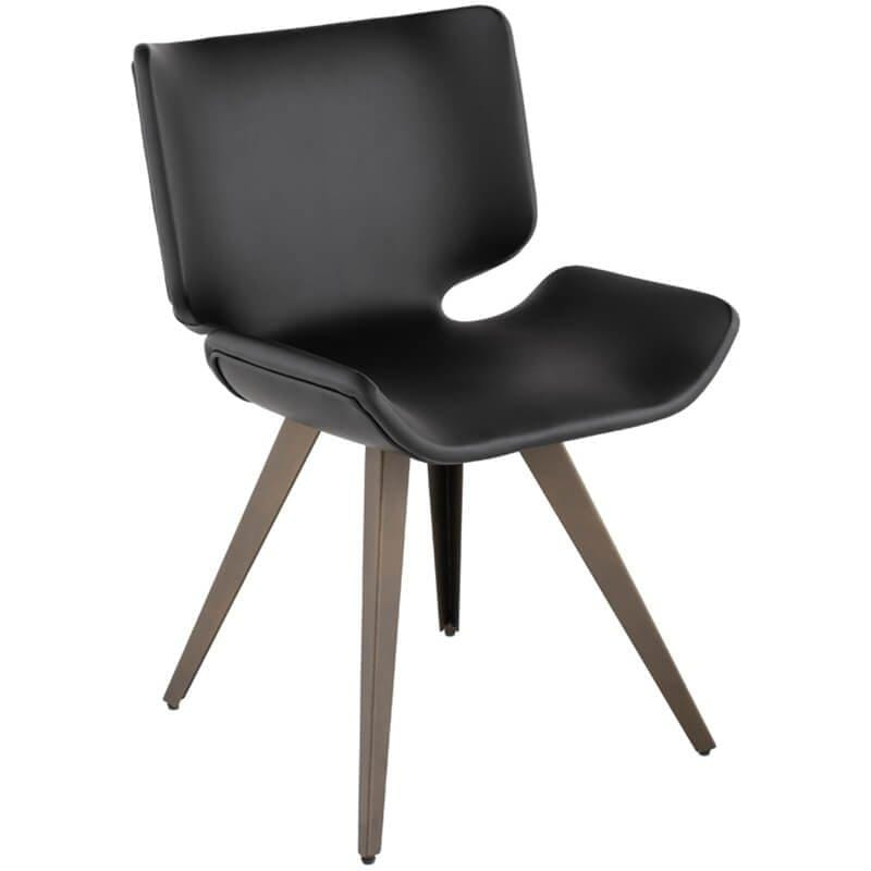 Astra Dining Chair, Black - Furniture - Dining - High Fashion Home