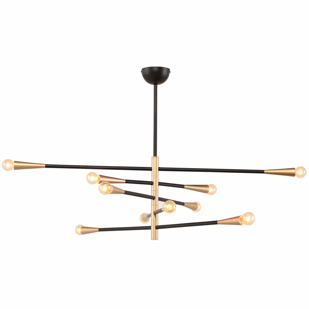 Orion 5 Light Pendant, Black