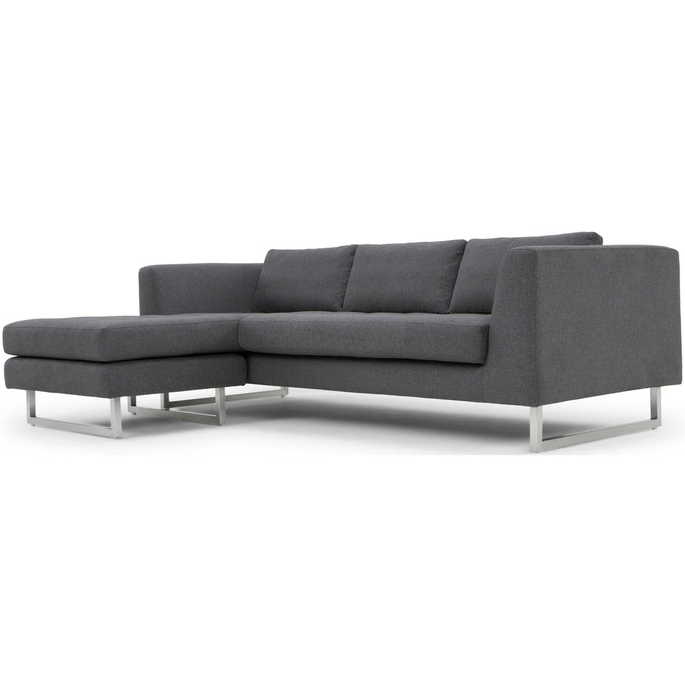 Matthew Sectional, Shale Grey - Furniture - Sofas - High Fashion Home