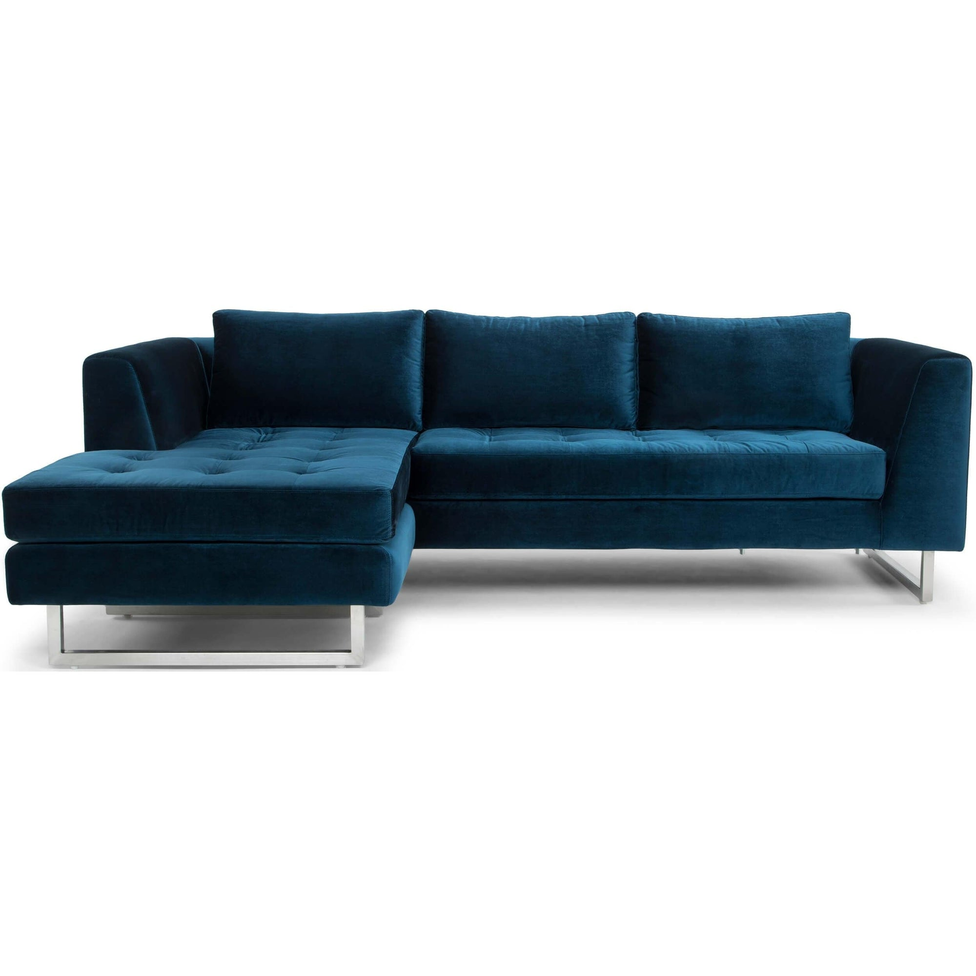 Remarkable Matthew Sectional Midnight Blue High Fashion Home Ocoug Best Dining Table And Chair Ideas Images Ocougorg