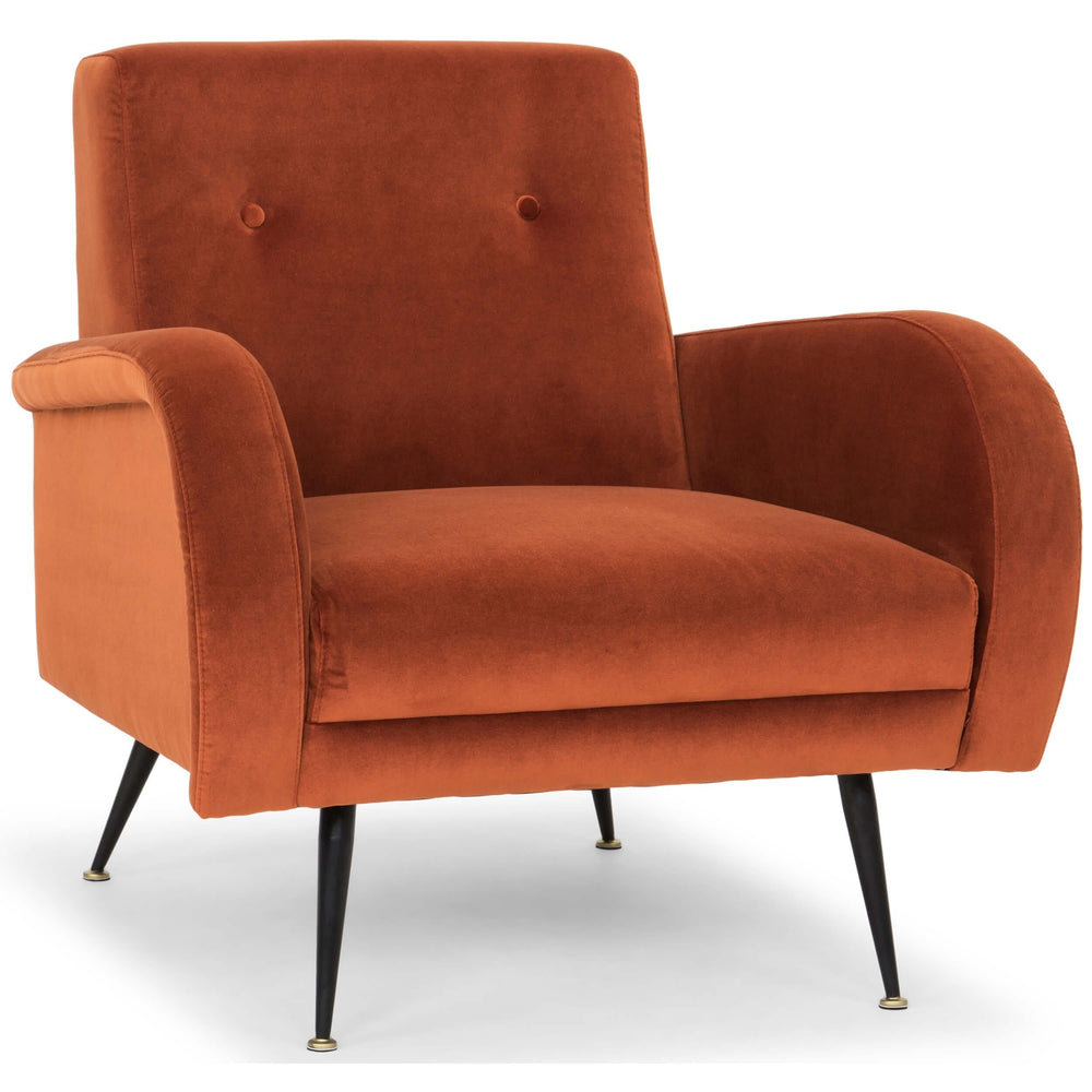 Hugo Occasional Chair, Rust - Furniture - Chairs - Fabric