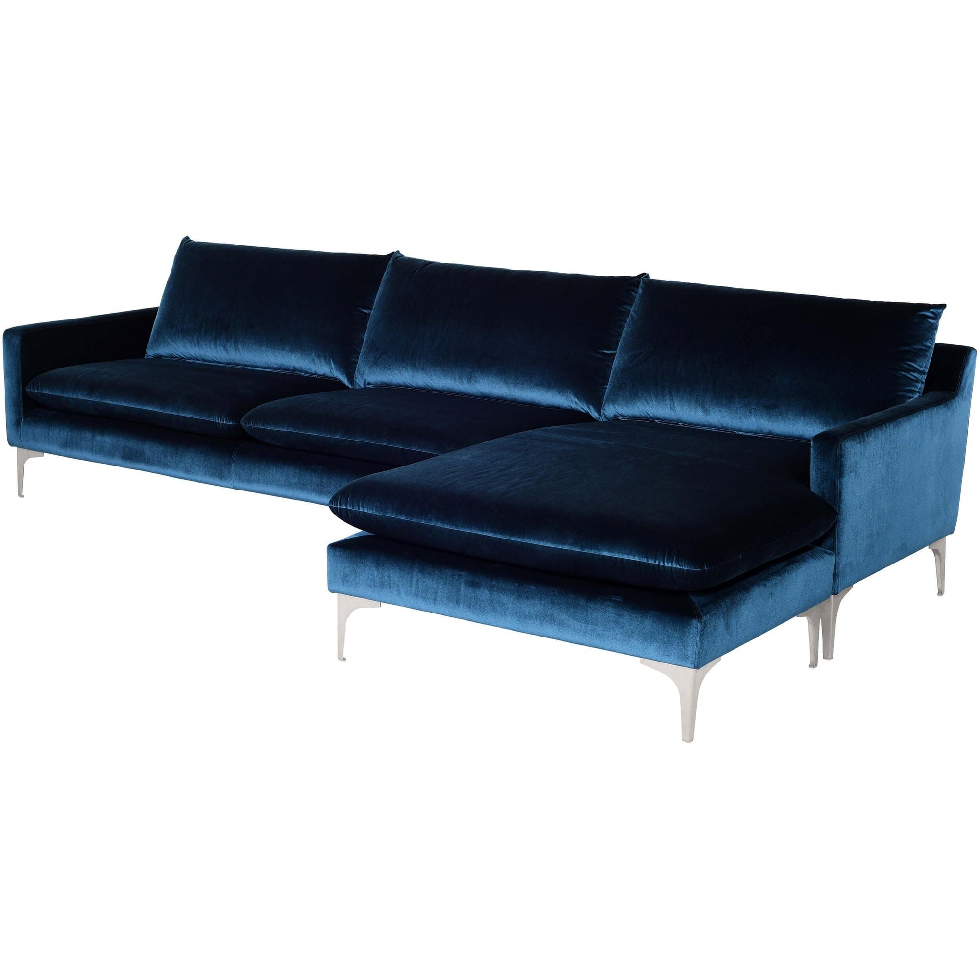 Magnificent Anders Sectional Midnight Blue High Fashion Home Camellatalisay Diy Chair Ideas Camellatalisaycom