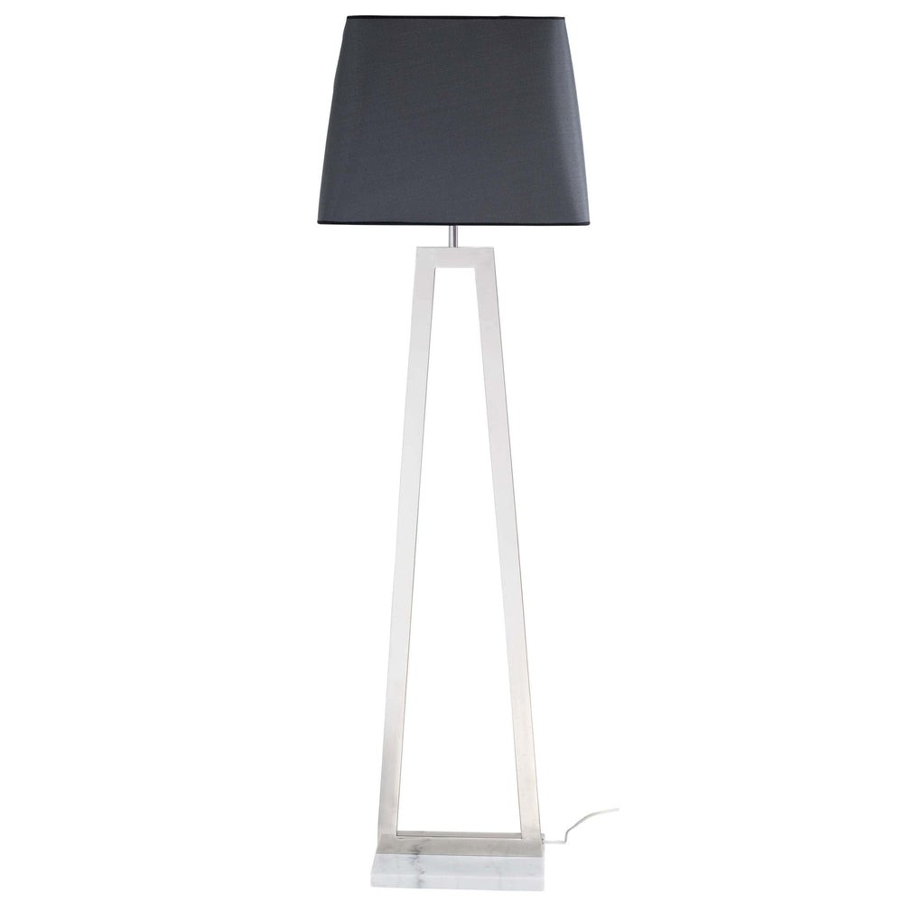 Trapeze Floor Lamp, Polished Stainless