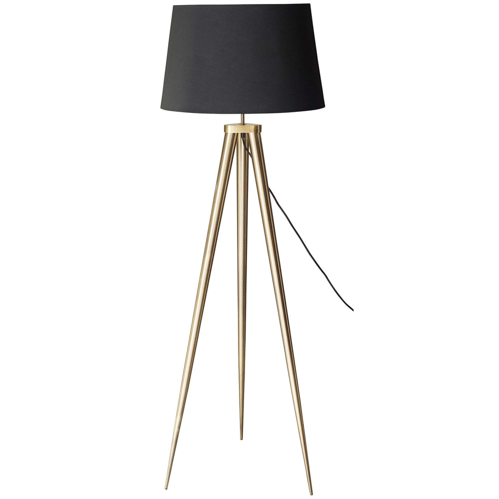 Triad Floor Lamp, Brushed Brass - Lighting - High Fashion Home