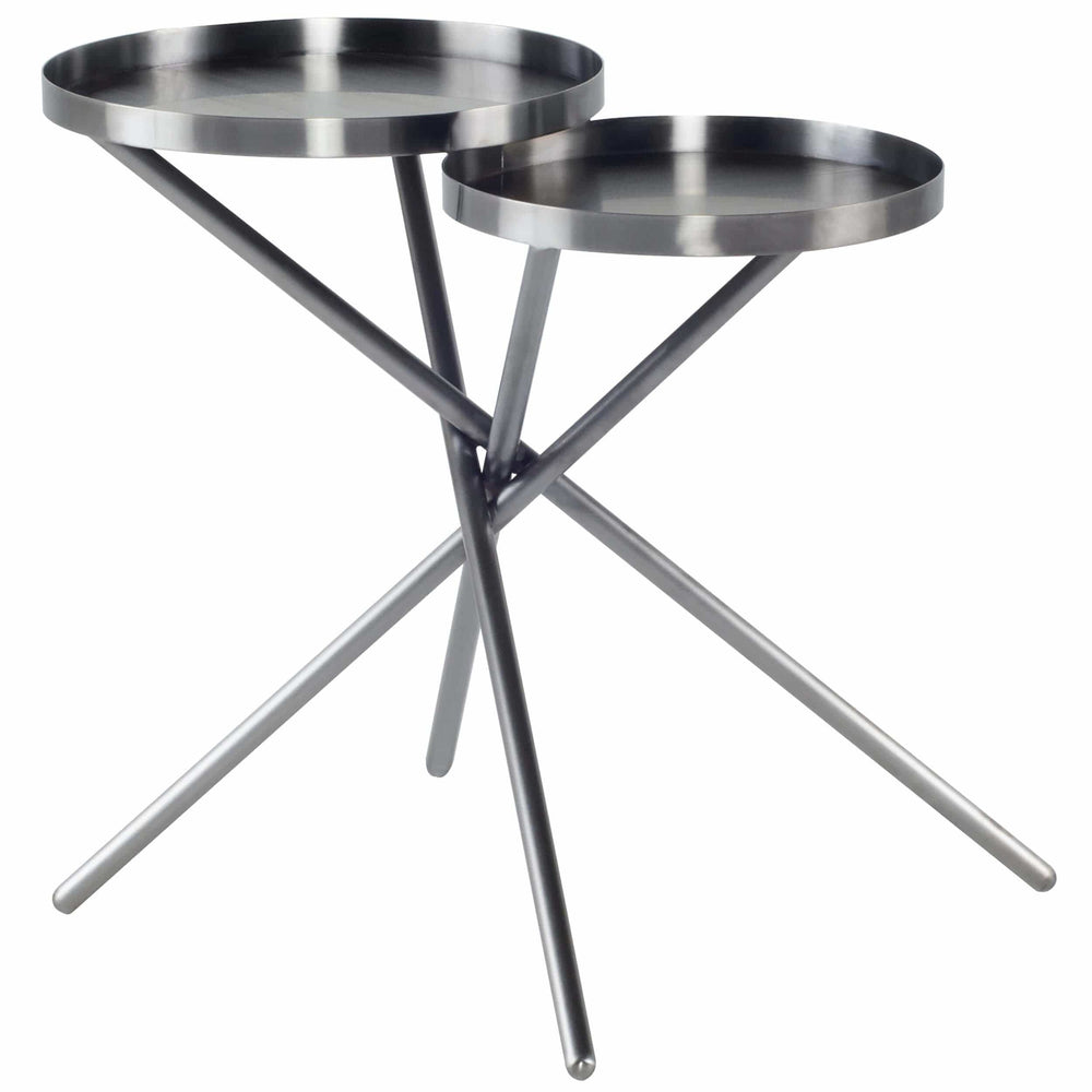 Olivia Side Table, Graphite - Furniture - Accent Tables - High Fashion Home