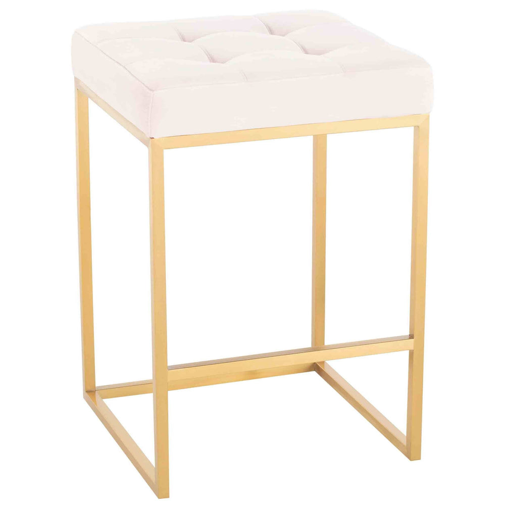 Chi Counter Stool, Powder Pink/Gold Base - Furniture - Dining - High Fashion Home