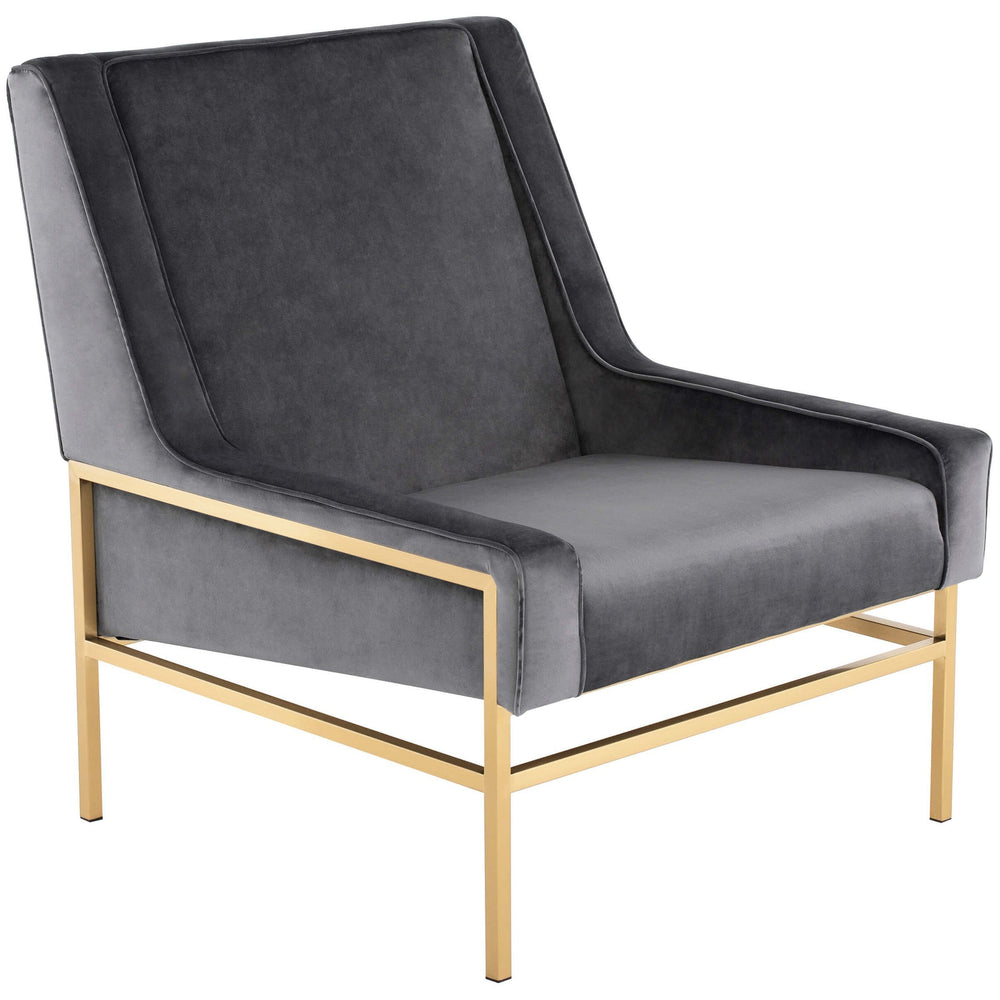 Theodore Chair, Tarnished Silver/Polished Gold Base - Modern Furniture - Accent Chairs - High Fashion Home