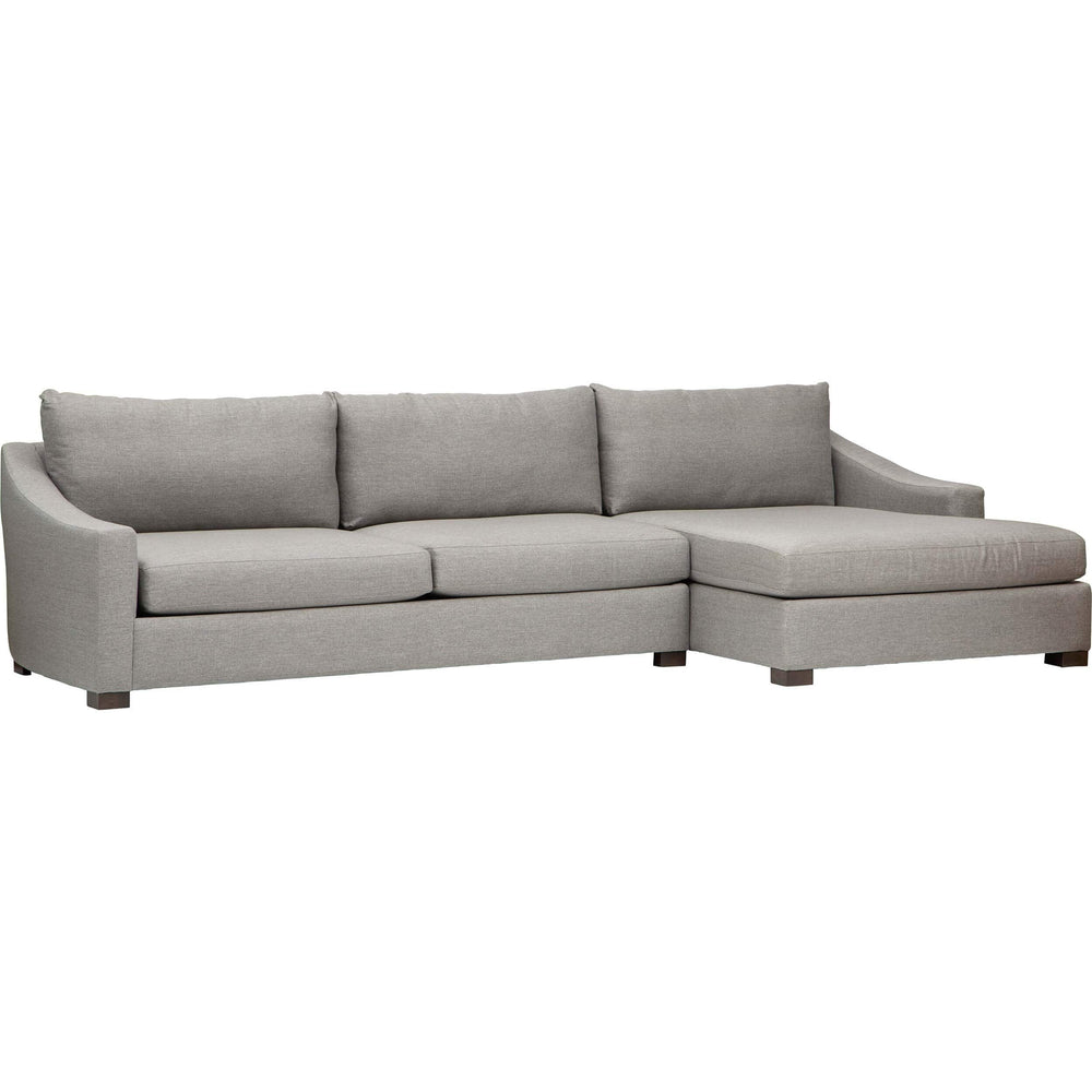 Hilton Sectional, Wannabe Pewter - Modern Furniture - Sectionals - High Fashion Home