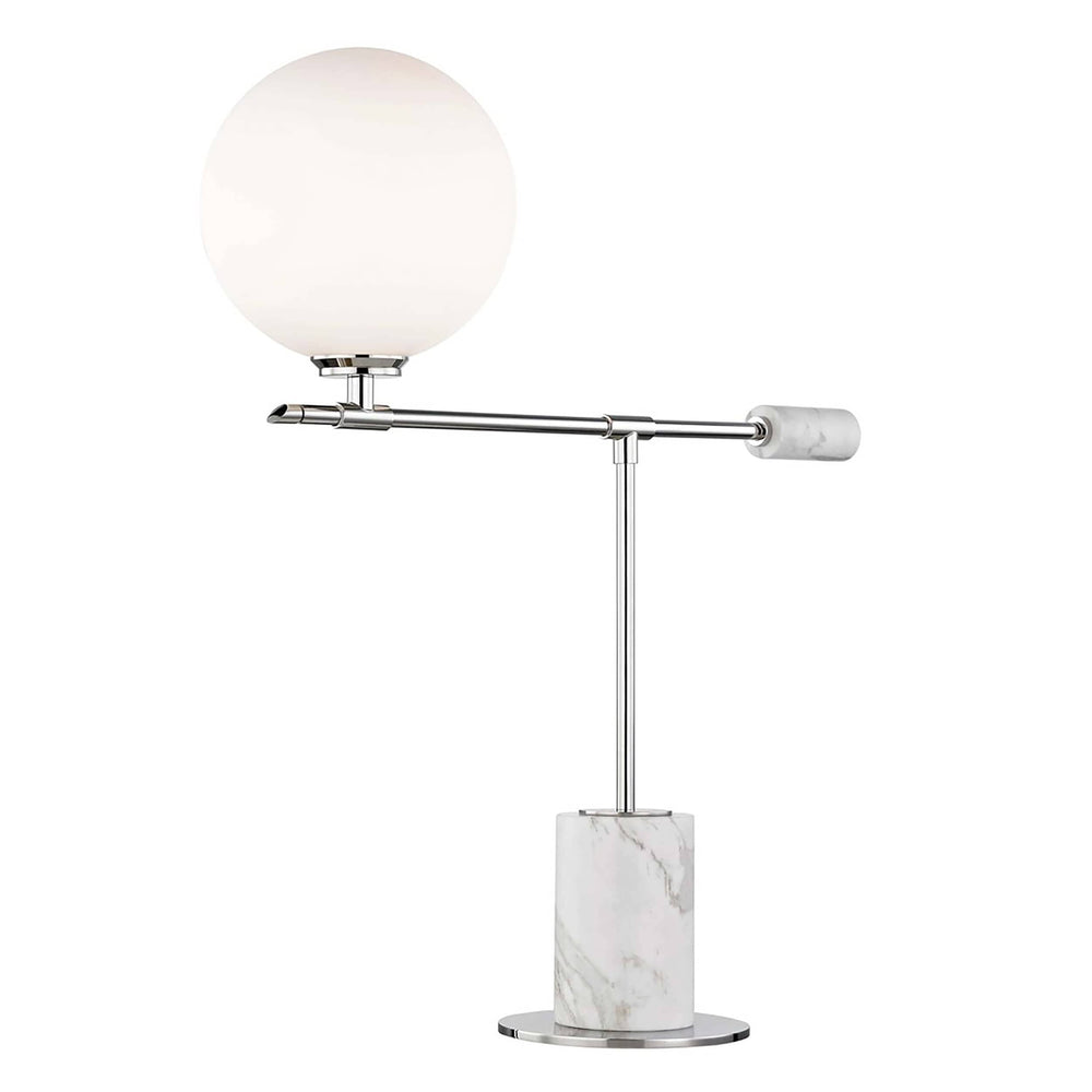 Bianca Table Lamp, Polished Nickel - Lighting - Table