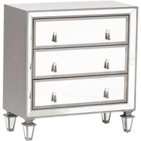 Hollywood 3 Drawer Mirror Chest  - Furniture - Storage - Bedroom