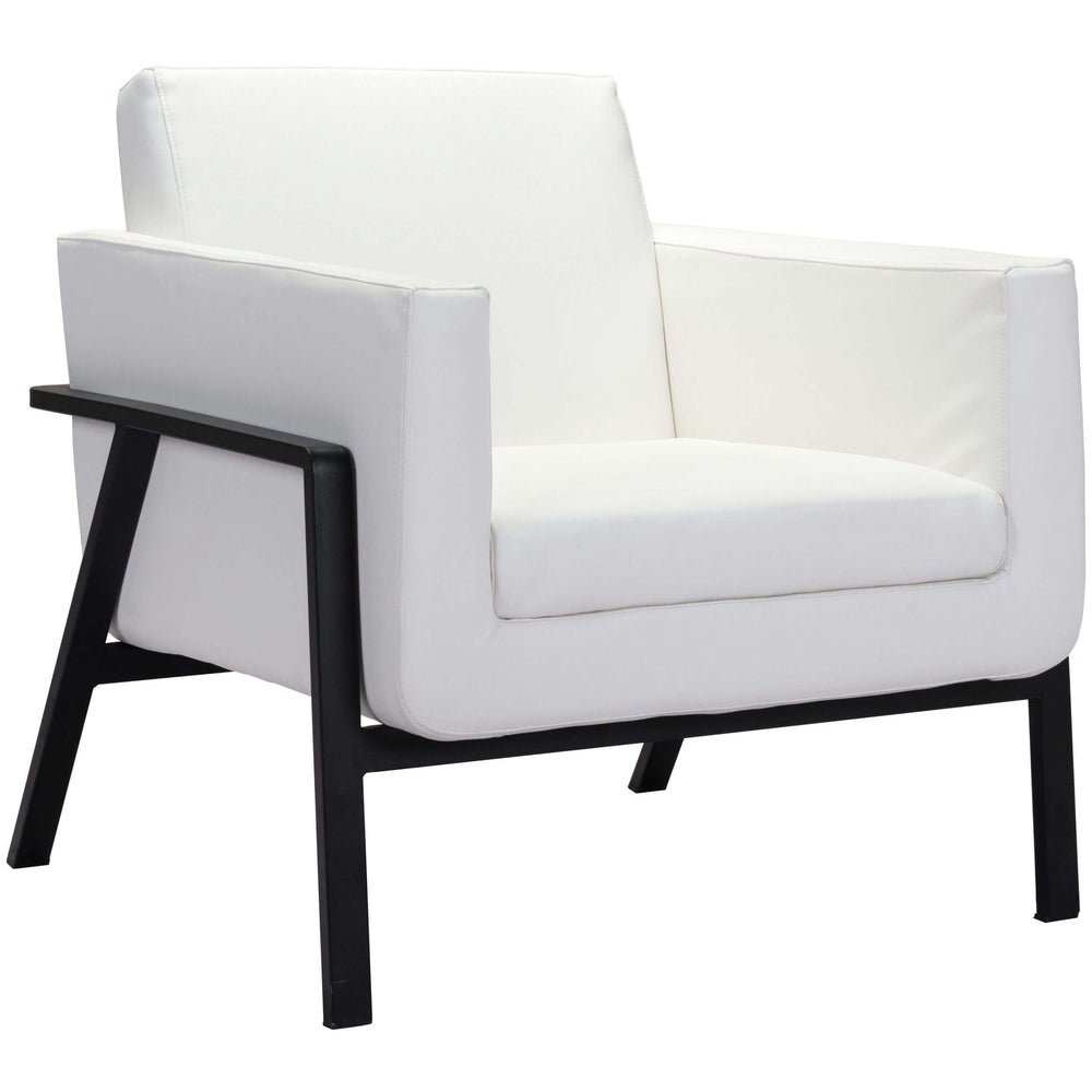 Homestead Lounge Chair, White - Email - Modern Office